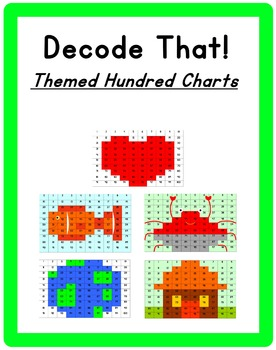 Decode That! Themed Hundreds Charts