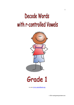 Decode Words with r-controlled Vowels: Introduce/Practice/Assess