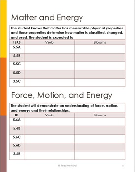 Decode the 5th Grade Science TEKS