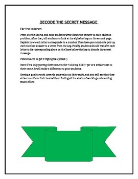 Decode the Secret Message