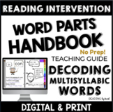 Decoding Multisyllabic Words WORD PARTS YEAR-LONG PROGRAM