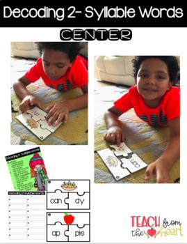 Decoding 2-Syllable Words Center
