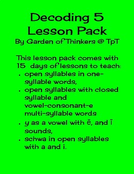 Decoding 5 Lesson Pack