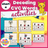 Decoding CVC Words Phonics Activities Short Vowel a