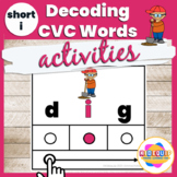 Decoding CVC Words Phonics Activities Short Vowel i