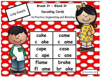 Decoding Cards Long Vowel Bundle