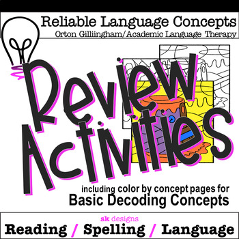 Decoding Concepts Review Activities for OG, Academic Language Therapy, Phonics