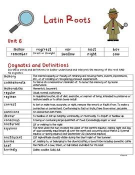 Decoding Detectives: Latin Root & Word Vocabulary Study UNIT 6 -ELA CCSS Aligned