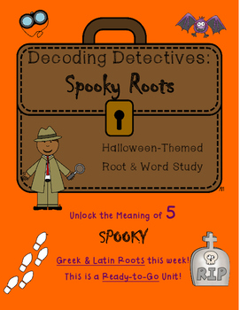 Decoding Detectives: Spooky Halloween Greek and Latin Root & Vocabulary ELA CCSS