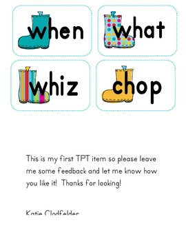 Decoding Digraphs ch, sh, th and wh