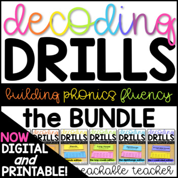 Decoding Drills for Fluency - The GROWING Bundle