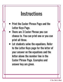 Decoding Easter Phrase - Multi-Digit Addition