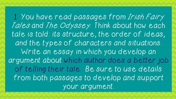 Decoding Essay Prompts (LEAP/PARCC) and Knowing WHAT to Write About
