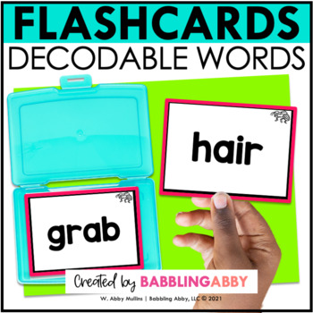 Decoding Flashcards for CVC, CVCe, and other word patterns