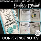 Decoding Multisyllabic Words DECODING CONFERENCE NOTES BOOKLET