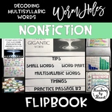 Decoding Multisyllabic Words FLIP BOOK WORMHOLES ADVANCED
