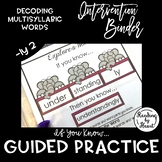 """Decoding Multisyllabic Words INTERVENTION BINDER GUIDED PRACTICE """"-ly"""" 2"""