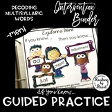 "Decoding Multisyllabic Words INTERVENTION BINDER GUIDED PRACTICE ""-ment"""