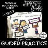 "Decoding Multisyllabic Words INTERVENTION BINDER GUIDED PRACTICE ""-ment"" 2"