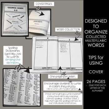 Decoding Multisyllabic Words KEEPING YOUR COLLECTED WORDS A-Z BOOKLET