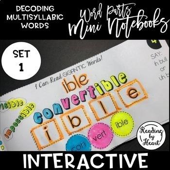 Decoding Multisyllabic Words MINI INTERACTIVE NOTEBOOK SET 1