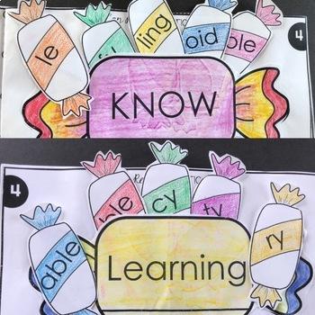 Decoding Multisyllabic Words MINI INTERACTIVE NOTEBOOK SET 4