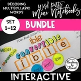 Decoding Multisyllabic Words MINI INTERACTIVE NOTEBOOK SET