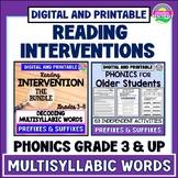 Decoding Multisyllabic Words-Reading Intervention-Distance
