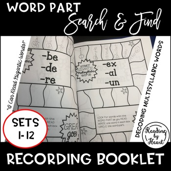 Decoding Multisyllabic Words SEARCH & FIND SETS 1-12 WORD PARTS COLLECTION BOOK