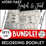 Decoding Multisyllabic SEARCH & FIND SETS 1-47 WORD PARTS