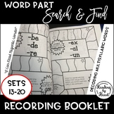 Decoding Multisyllabic Words SEARCH & FIND SETS 13-20 WORD PARTS COLLECTION BOOK