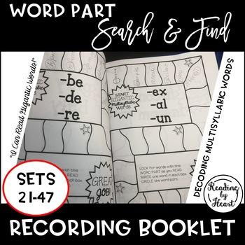 Decoding Multisyllabic Words RECORDING MULTISYLLABIC WORDS SETS 21-47