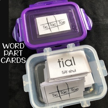 Decoding Multisyllabic Words TIC TAC TOE Word Parts Word Study Activity