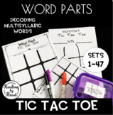 Decoding Multisyllabic Words TIC TAC TOE Word Parts Word Work