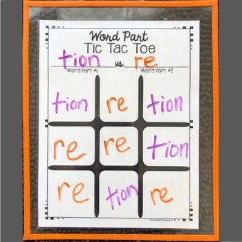 Decoding Multisyllabic Words TIC TAC TOE Word Parts DISTANCE LEARNING Word Work