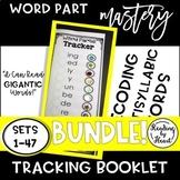 Decoding Multisyllabic Words TRACKERS SETS 1-47 WORD PARTS RECORDING BOOK BUNDLE