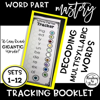 Decoding Multisyllabic Words TRACKERS SETS 1-12 WORD PARTS RECORDING BOOKLET