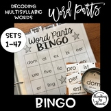 Decoding Multisyllabic Words BINGO Word Parts Study