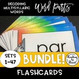 Decoding Multisyllabic Words WORD PARTS RAINBOW FLASHCARDS