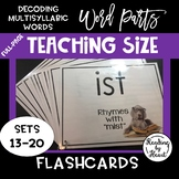 Decoding Multisyllabic Words WORD PARTS TEACHING FLASHCARDS DOGS SETS 13-20