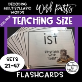 Decoding Multisyllabic Words WORD PARTS TEACHING FLASHCARDS DOGS SETS 21-47