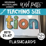 Decoding Multisyllabic Words WORD PARTS TEACHING FLASHCARD