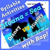 Decoding Multisyllabic Words Worksheets and Passage Using Moana Parody Song
