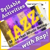 Decoding Multisyllabic Words Passage and Worksheets Using Jazz Age History Song