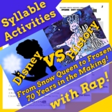 Decoding Multisyllabic Words Worksheets and Passage Using History of Frozen Song