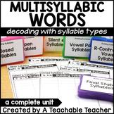 Multisyllabic Words - Decoding using Syllable Types