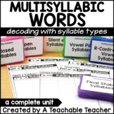 Multisyllabic Words - Decoding using Syllable Types