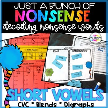 Decoding Nonsense Words Pack - Short Vowels