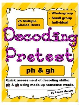 "Decoding Phonics Assessment ""ph"""
