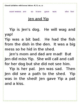 Decoding Practice: Ten Phonics Based, Controlled Text Closed Syllable Stories